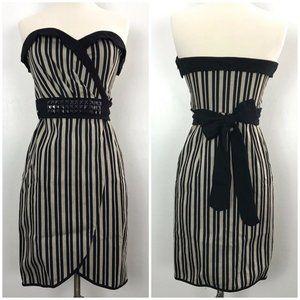 Eva Franco Pinup Pencil Striped Strapless dress